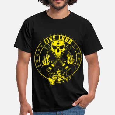 Live Loud, Rock ´n` Roll - Männer T-Shirt
