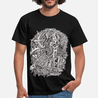 Psychedelic Weirdhead by Brian Benson - Men's T-Shirt