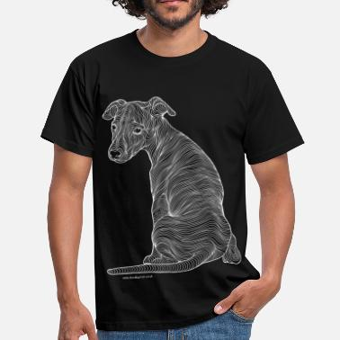 Whippet white line - Men's T-Shirt