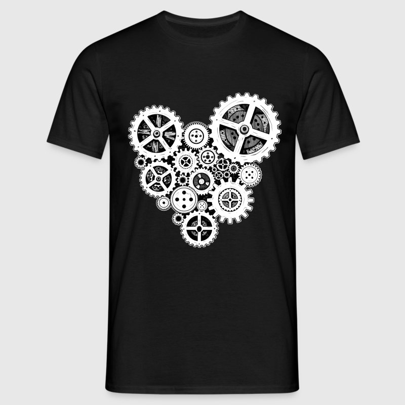 steampunk heart - Men's T-Shirt