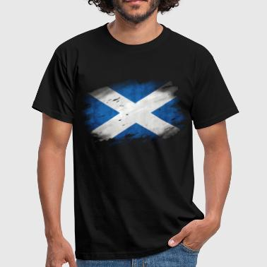 Schottland Flagge Used Look - Männer T-Shirt