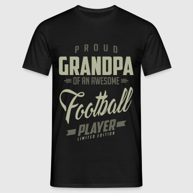 Proud Grandpa Football Player - Men's T-Shirt