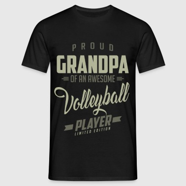 Proud Grandpa Volleyball Player. - Men's T-Shirt