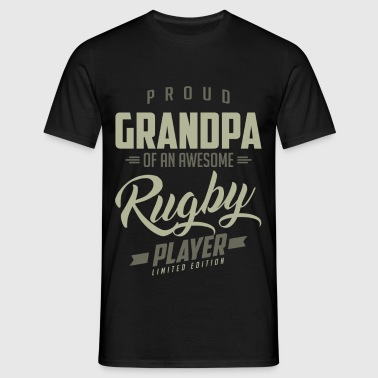 Proud Grandpa Rugby Player. - Men's T-Shirt