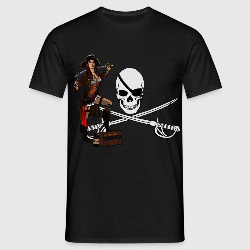 Pirate punk pin up - T-shirt Homme