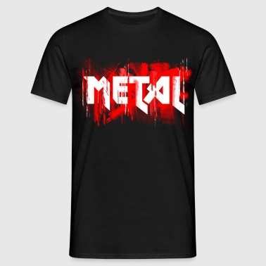 metal festival concert headbang - Men's T-Shirt