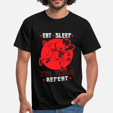 Ju Jitsu Eat, Sleep, Jiu Jitsu, Repeat - Men's T-Shirt