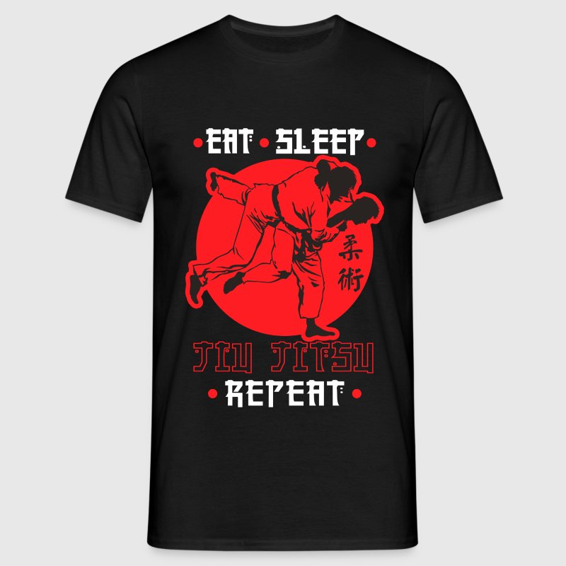 Eat, Sleep, Jiu Jitsu, Repeat - Men's T-Shirt