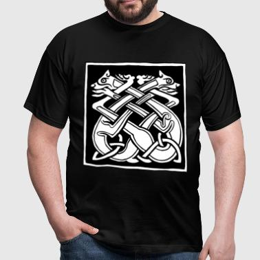 Celtic Dog Knot - Book of Kells - Men's T-Shirt