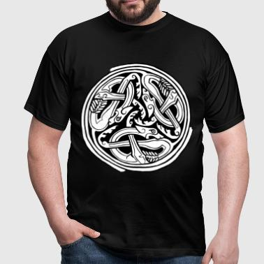 Celtic Art Dog Triskele - Book of Kells - Men's T-Shirt