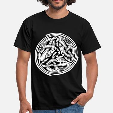 Celtic Dogs Celtic Art Dog Triskele - Book of Kells - Men's T-Shirt
