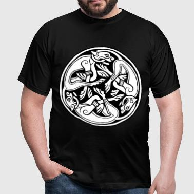 Celtic Dog Triskele - Men's T-Shirt