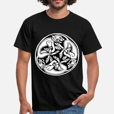 Celtic Knotwork Celtic Dog Triskele - Men's T-Shirt