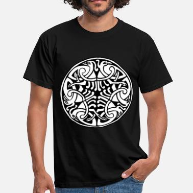 Celtic Knotwork Celtic Art Bird Pattern - Book of Kells - Men's T-Shirt