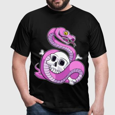 Pink Python (No Text) - Men's T-Shirt