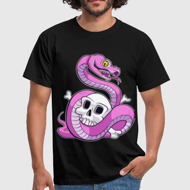 Pink Python (No Text) - Mannen T-shirt