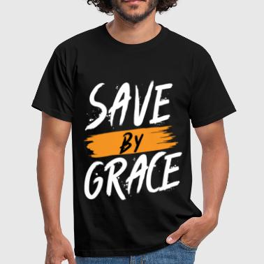 Save by Grace Jesus - Männer T-Shirt