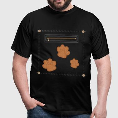Leather Paw Print - Men's T-Shirt