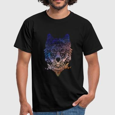 Tribal Wolf Paint Translucent   - Men's T-Shirt