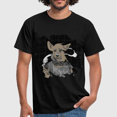 Hipster Fox mixed media digital art collage  - Men's T-Shirt
