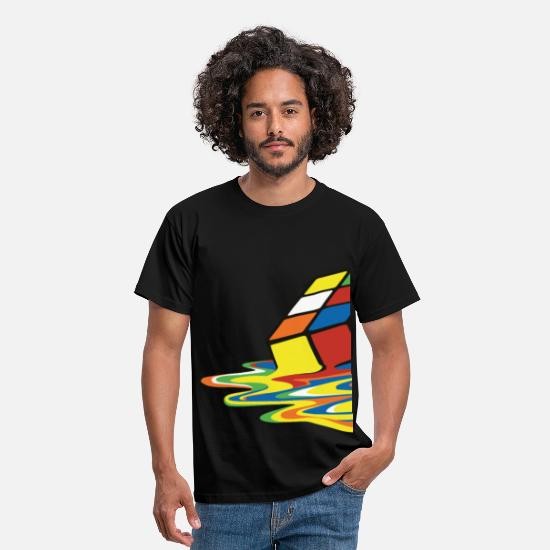 Geek T-shirts - Melting Cube - T-shirt Homme noir