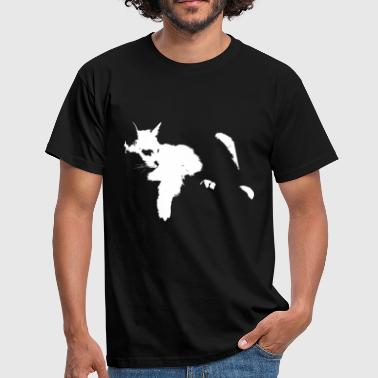 chat blanc - T-shirt Homme