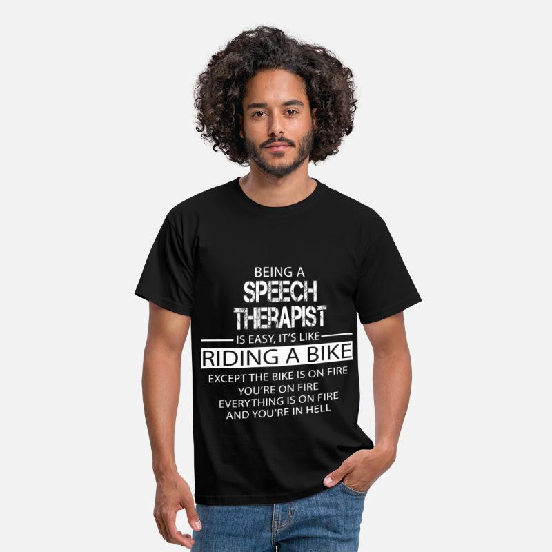 Speech T-Shirts - Speech Therapist - Men's T-Shirt black