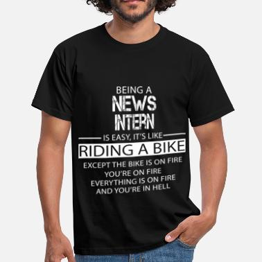 Intern News Intern - Men's T-Shirt
