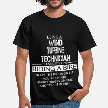 Wind Turbine Wind Turbine Technician - Men's T-Shirt