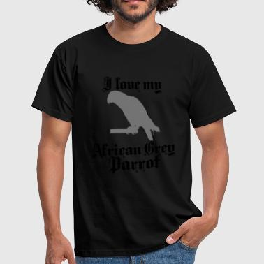 african grey parrot - Men's T-Shirt