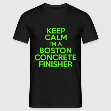 boston concrete finisher - Men's T-Shirt