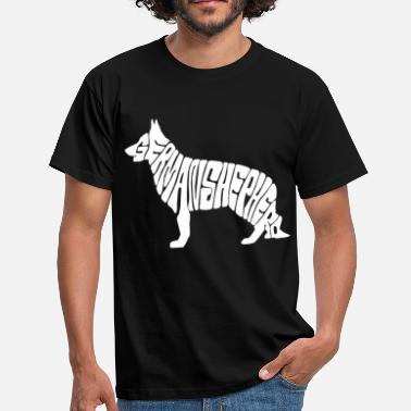 German german shepherd - Men's T-Shirt