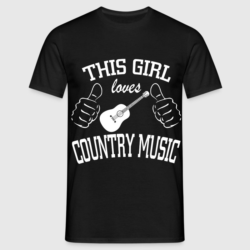this girl loves country music - Men's T-Shirt