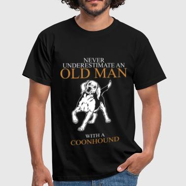 Never Underestimate An Old Man Coonhound.png - Men's T-Shirt