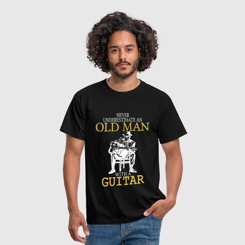 Never Underestimate An Old Man With A Guitar .png - Men's T-Shirt