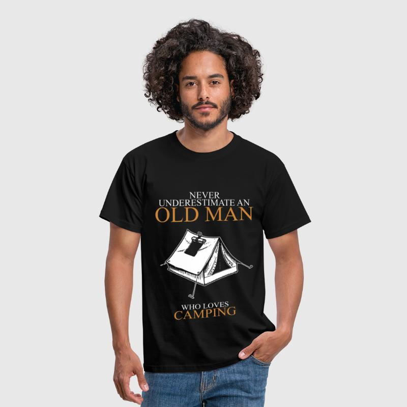 Never Underestimate An Old Man Camping.png - Men's T-Shirt
