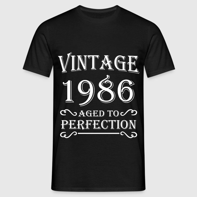 Vintage 1986 - Aged to perfection - Mannen T-shirt