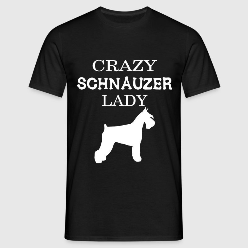 Crazy Schnauzer Lady - Men's T-Shirt