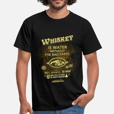 Whiskey Sprüche Shirt Whiskey is water without the bad parts - Männer T-Shirt