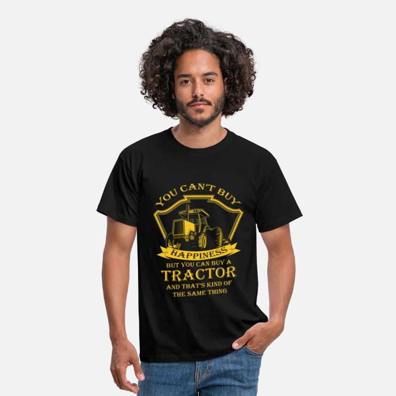 Tractor T-Shirts - You Can't Buy Happiness, But You Can buy a tractor - Men's T-Shirt black