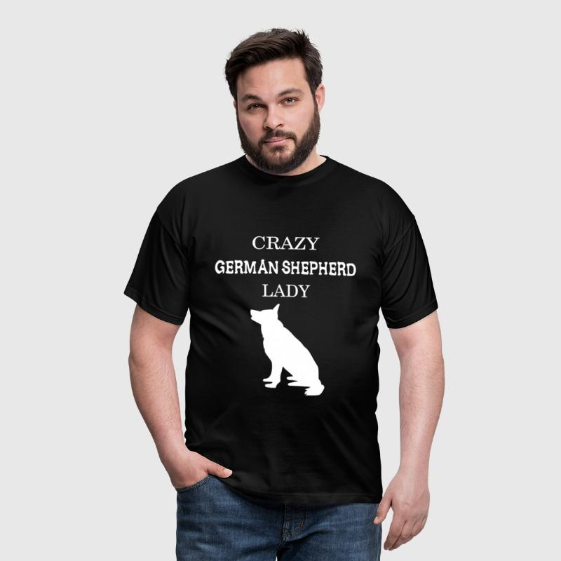Crazy German Shepherd lady - Men's T-Shirt