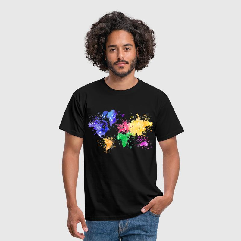 Wanderlust Map - Men's T-Shirt