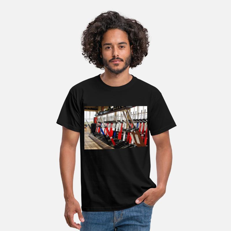 Locomotive T-Shirts - LNWR Signal Box Levers - Men's T-Shirt black