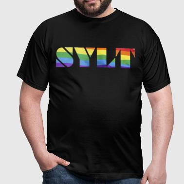 Sylt rainbow flag - Men's T-Shirt