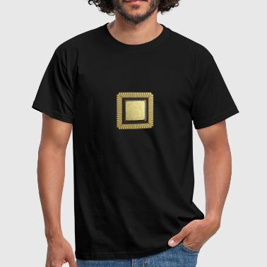 Gold chip / CPU / mikroprocessor - Herre-T-shirt