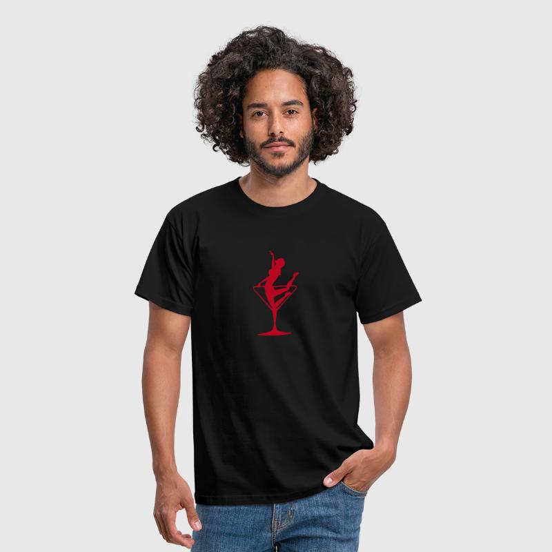 Lady in a Martini Glass - Kneeling - Men's T-Shirt