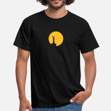 Bunny Bunny And Moon - Men's T-Shirt