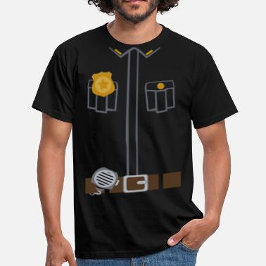 Police Tee Black edition - T-shirt herr