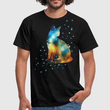 Milky Way Cat on the Milky Way Vintage universe stars - Men's T-Shirt