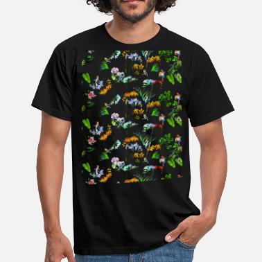 Botanical Botanical garden, plants, colored - Men's T-Shirt